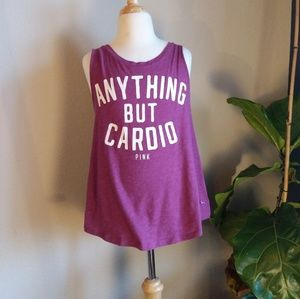 "🎉3 for $20 PINK ""Anything But Cardio"" Tank Top"